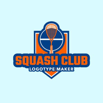 Squash Logo Creator for a Squash Club 1635a