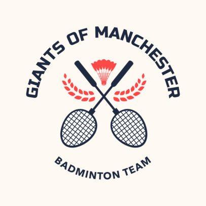 Badminton Logo Maker for a Pro Badminton Team 1630