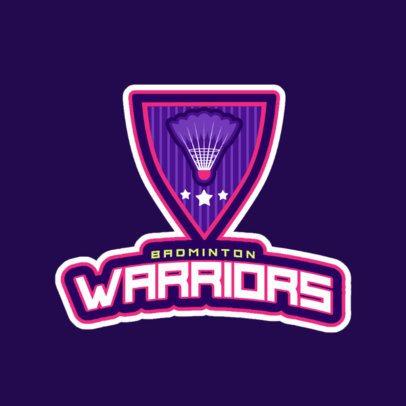 Women's Badminton Club Logo Maker 1628e