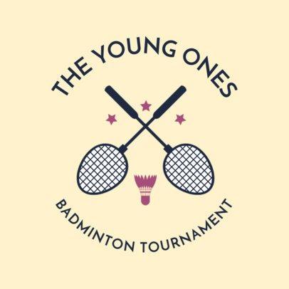 Badminton Logo Maker for Youth Badminton Tournaments 1630d