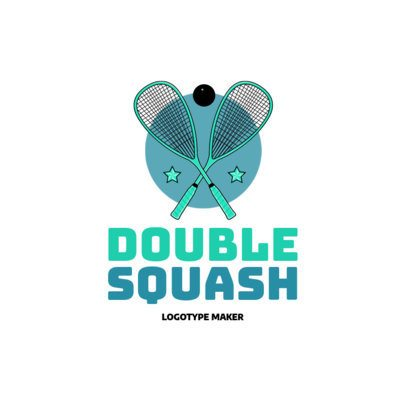 Double Squash Logo Maker 1633c