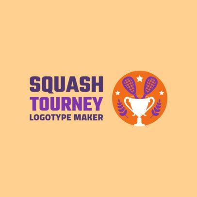 Colorful Squash Logo Maker for a Squash Tournament 1633d