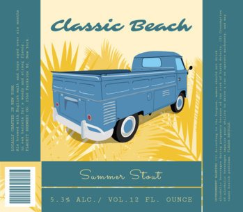 Beer Label Maker with Vintage Truck Clipart 762e