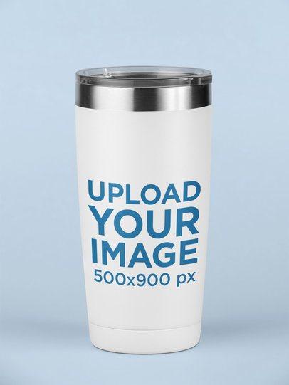 Mockup of a Travel Mug on a Surface 24403