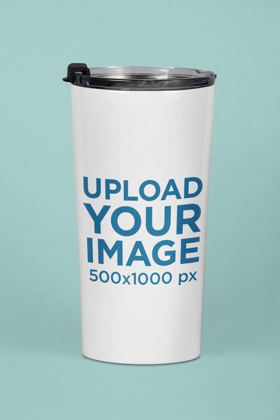 Travel Mug Mockup with a Solid Background 24405