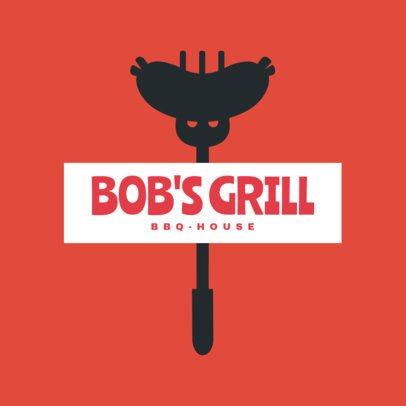BBQ House Restaurant Logo Maker 1678a