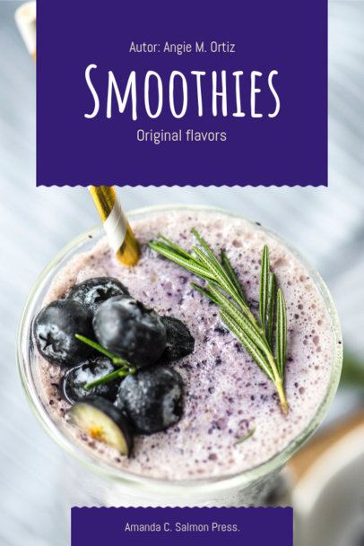 Smoothies Recipe Book Cover Template 909a