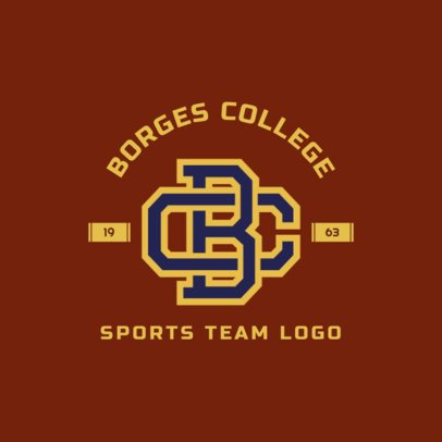 Sports Logo template with Interlocked Monogram Letters 1693a
