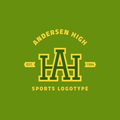 Sports Team Logo Template for a High School Varsity Team 1693e
