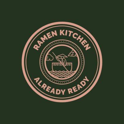 Chinese Food Logo Maker for a Ramen Kitchen 1665e