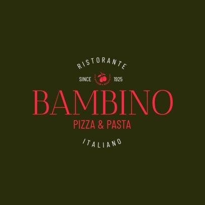 Italian Restaurant Logo Generator 1661a