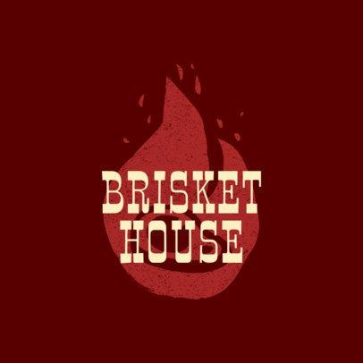 BBQ Restaurant Logo Maker for a Brisket House 1674a
