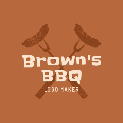 BBQ Logo Maker for a Restaurant 1674d