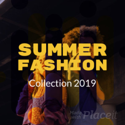 Instagram Video Maker for a Summer Fashion Promo Video 1041 - 210c