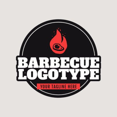Barbecue Logo Maker with a Badge 1677