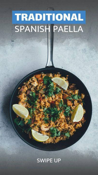 Traditional Spanish Dish Insta Story Maker 598e
