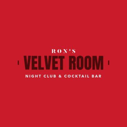 Night Club Logo Maker for a Cocktail Bar 1682c