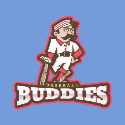 Sports Logo Maker Featuring a Cartoonish Baseball Player 172f