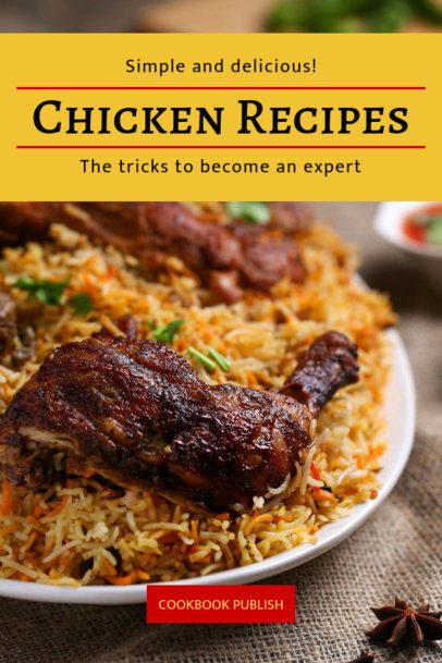 Chicken Recipes Book Cover Maker 910d
