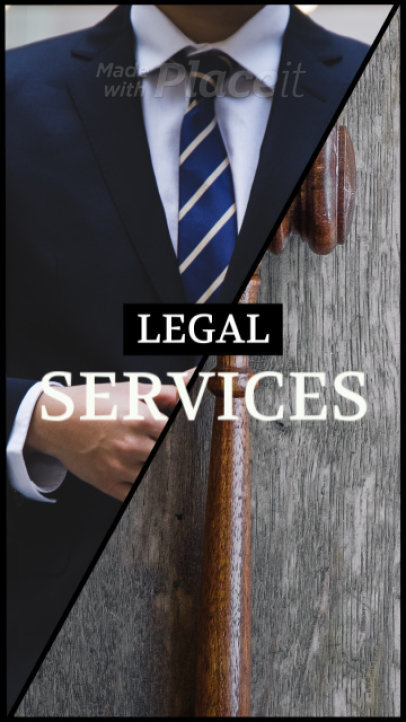 Instagram Story Video Maker for a Legal Services Promo Video 268f 1020