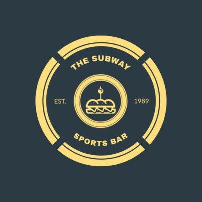 Sports Bar Logo Maker 1686a