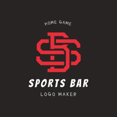 Sports Bar Logo Maker with Interlocked Letters 1684d