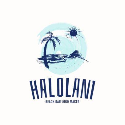 Beach Bar Logo Maker 1760