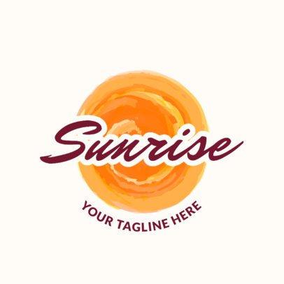 Beach Club Logo Maker with Sun Clipart 1759e