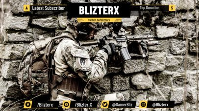 Twitch Overlay Maker for Military Video Games 1066