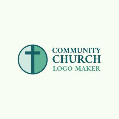Church Logo Generator for a Faith-Based Community with Cross Clipart 1770d