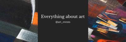 Twitter Header Template for an Art Account 1093b
