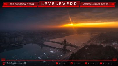 Futuristic Twitch Overlay Maker for a Twitch Account 1064b