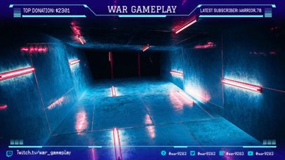 Twitch Overlay Maker with Futuristic Design Assets 1064c