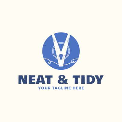 Laundry Logo Maker for a Cleaning Services Business 1777e