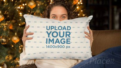 Parallax Video of a Pretty Girl Covering Her Face with a Pillow 26037