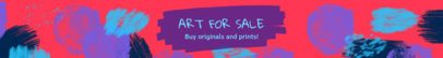 Etsy Banner Template with an Artistic Stroke Background 1113e