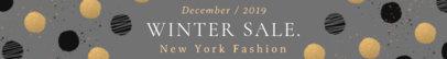 Etsy Shop Banner Maker for a Winter Sale 1117e