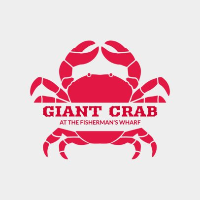 Seafood Restaurant Logo Maker with Crab Clipart 1799a