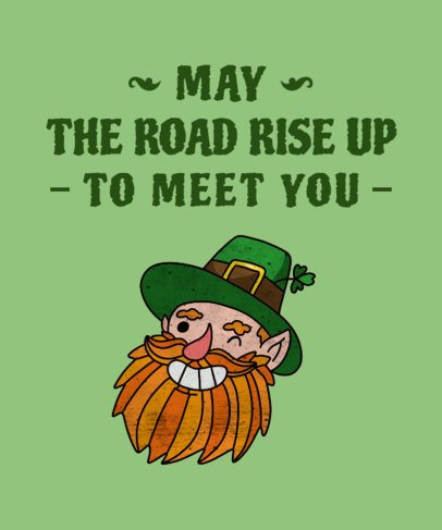 St. Patrick's Day T-Shirt Template with Leprechaun Clipart 1129d