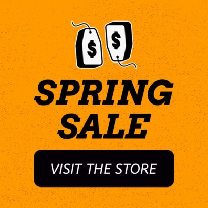 Huge Spring Sale Banner Design Template 755c