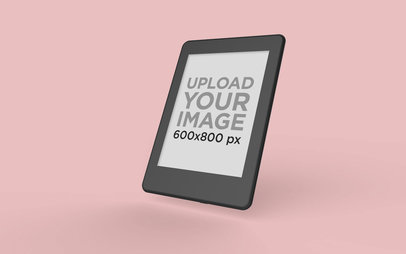 Kindle Mockup Floating Angled on a Plain Surface 26138