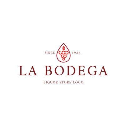 Elegant Liquor Store Logo Design Template 1813