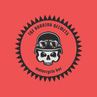 Biker Bar Logo Maker with a Biker Skull Icon 1763a