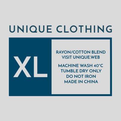 Minimalist XL T-Shirt Tag Design Template 1133c
