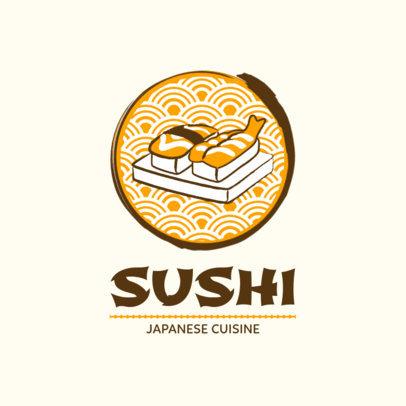 Japanese Cuisine Logo Maker 1818b