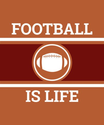 Football Tee Design Maker 443f