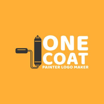 Painting Business Logo Maker with a Painting Roller Icon 1436c