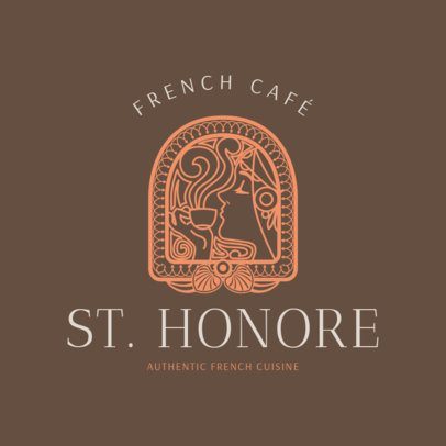 French Food Logo Maker with an Opulent Design 1809e