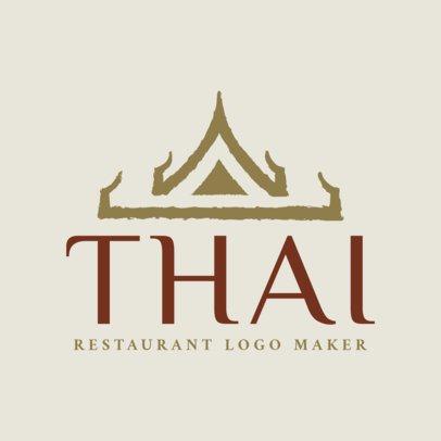 Simple Thai Restaurant Logo Maker with Flashy Typeface 1840