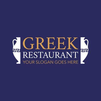 Traditional Greek Restaurant Logo Template 1911